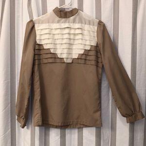 Vintage joseph ii dress shirt geometric design
